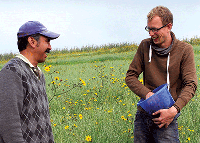 Leendert van Wolfswinkel (right) is working in the central highlands of Mexico
