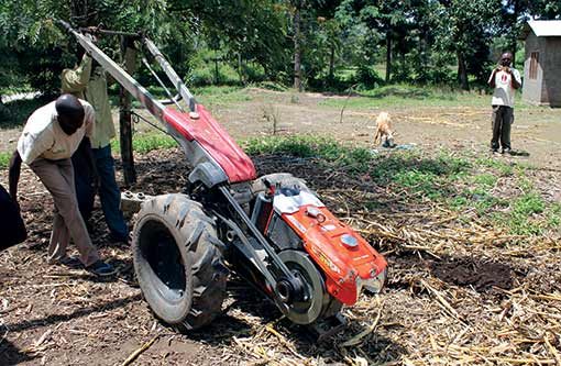 FACASI is investigating the potential of two-wheeled tractors for smallholder farming